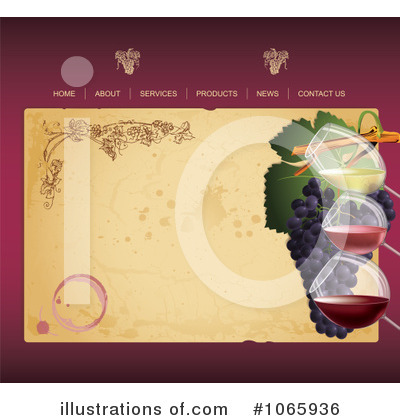 Website Template Clipart #1065936 by Eugene