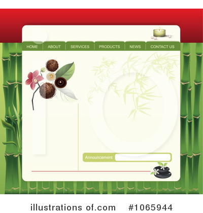 Website Template Clipart #1065944 by Eugene