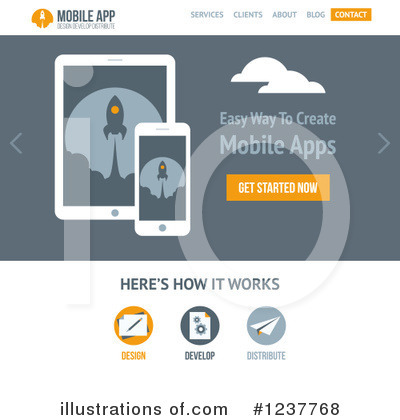 Website Template Clipart #1237768 by elena