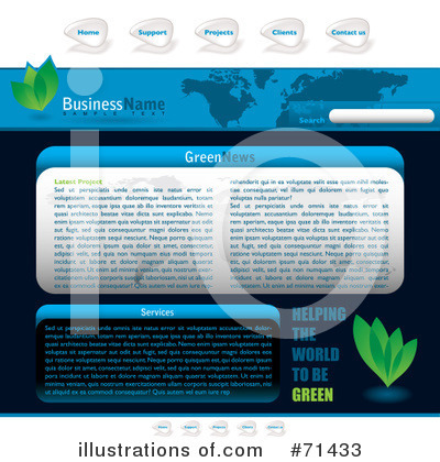 Website Template Clipart #71433 by michaeltravers