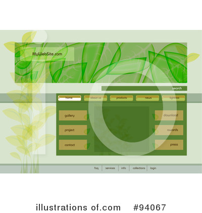 Website Template Clipart #94067 by MilsiArt