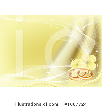 RoyaltyFree RF Wedding Background Clipart Illustration by Pushkin Stock