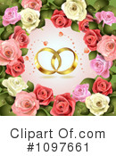 Royalty-Free (RF) wedding background Clipart Illustration #1097661
