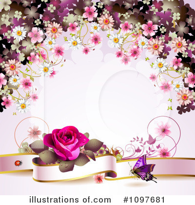 Rose Background Clipart #1097681 by merlinul