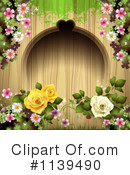 Royalty-Free (RF) Wedding Background Clipart Illustration #1139490
