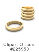 Royalty-Free (RF) Wedding Bands Clipart Illustration #225950