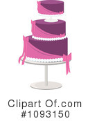 Royalty-Free (RF) Wedding Cake Clipart Illustration #1093150