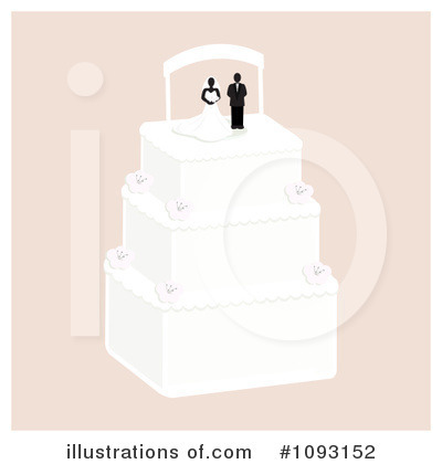 Wedding Cake Clipart #1093152 by Randomway