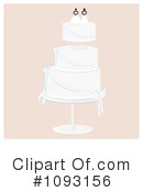 Royalty-Free (RF) Wedding Cake Clipart Illustration #1093156