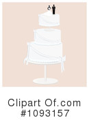 Royalty-Free (RF) Wedding Cake Clipart Illustration #1093157