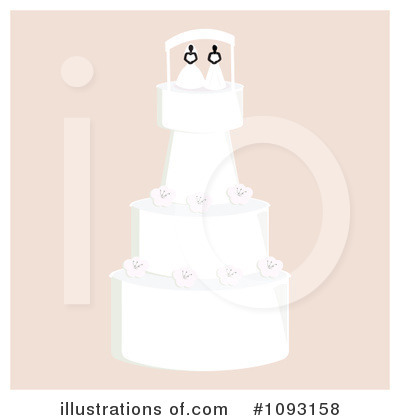 Wedding Cake Clipart #1093158 by Randomway