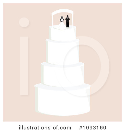 Wedding Cake Clipart #1093160 by Randomway