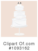 Royalty-Free (RF) Wedding Cake Clipart Illustration #1093162