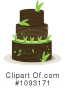 Royalty-Free (RF) Wedding Cake Clipart Illustration #1093171