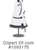 Royalty-Free (RF) Wedding Cake Clipart Illustration #1093175