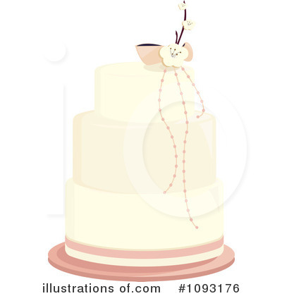 Royalty-Free (RF) Wedding Cake Clipart Illustration by Randomway - Stock Sample #1093176