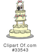 Royalty-Free (RF) Wedding Cake Clipart Illustration #33543