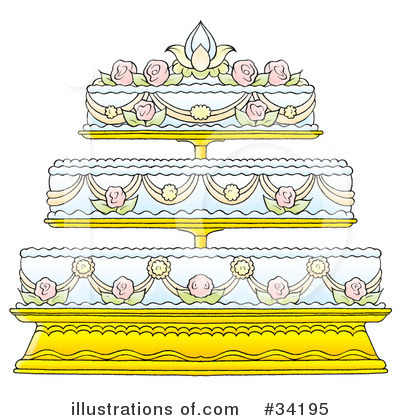 More Clip Art Illustrations of Wedding Cake