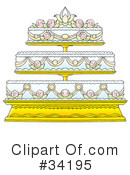 Royalty-Free (RF) Wedding Cake Clipart Illustration #34195