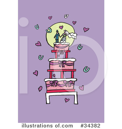 Wedding Flowers Lisa on Wedding Cake Clipart  34382 By Lisa Arts   Royalty Free  Rf  Stock