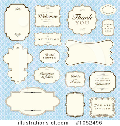 Royalty-Free (RF) Wedding Clipart Illustration by BestVector - Stock Sample #1052496