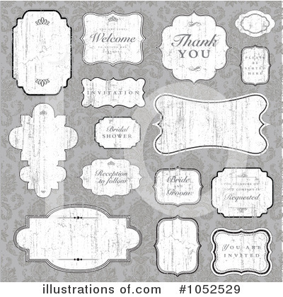 Royalty-Free (RF) Wedding Clipart Illustration by BestVector - Stock Sample #1052529