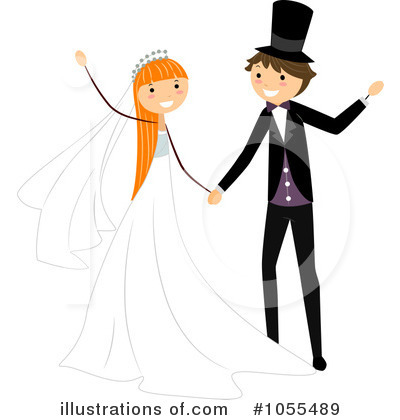 Royalty-Free (RF) Wedding Clipart Illustration by BNP Design Studio - Stock Sample #1055489