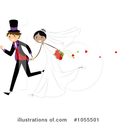 Royalty-Free (RF) Wedding Clipart Illustration by BNP Design Studio - Stock Sample #1055501