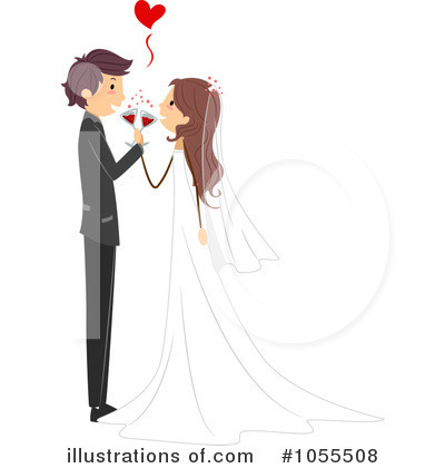 Royalty-Free (RF) Wedding Clipart Illustration by BNP Design Studio - Stock Sample #1055508