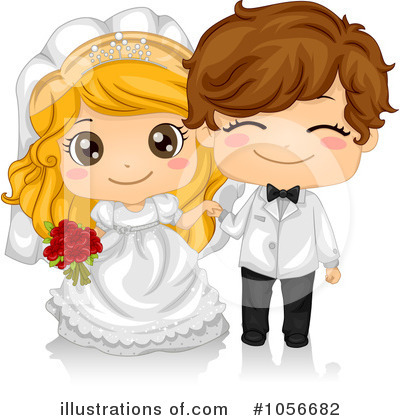 Royalty-Free (RF) Wedding Clipart Illustration by BNP Design Studio - Stock Sample #1056682