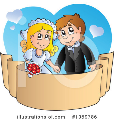 Royalty-Free (RF) Wedding Clipart Illustration by visekart - Stock Sample #1059786