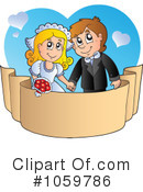Royalty-Free (RF) wedding Clipart Illustration #1059786