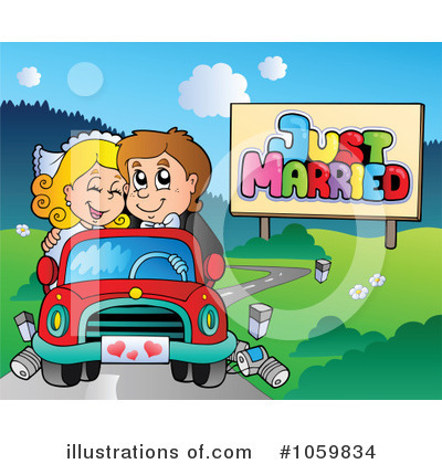 Wedding Car Clipart #1059834 by visekart