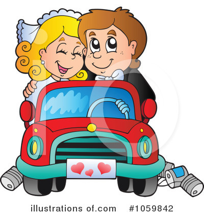 Wedding Car Clipart #1059842 by visekart
