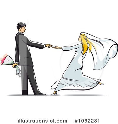 Wedding Couple Clipart #1062281 by Vector Tradition SM