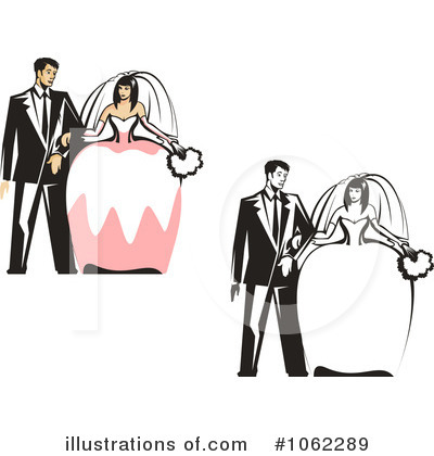 Wedding Couple Clipart #1062289 by Vector Tradition SM