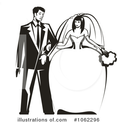 Wedding Couple Clipart #1062296 by Vector Tradition SM