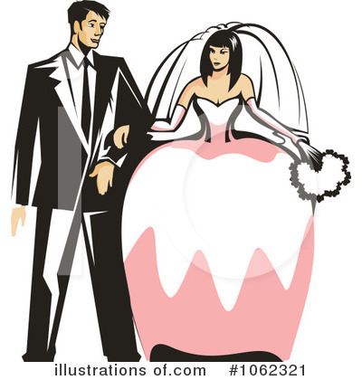 Wedding Couple Clipart #1062321 by Vector Tradition SM