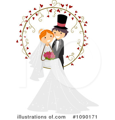 Royalty-Free (RF) Wedding Clipart Illustration by BNP Design Studio - Stock Sample #1090171