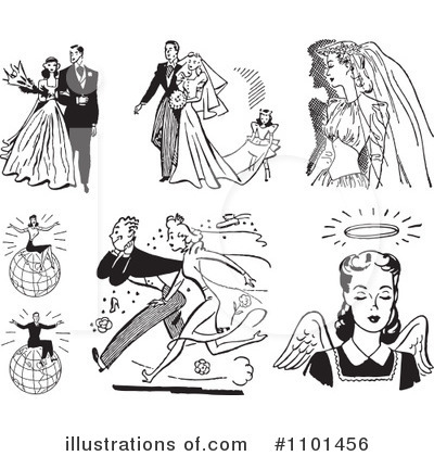 Wedding Couple Clipart #1101456 by BestVector