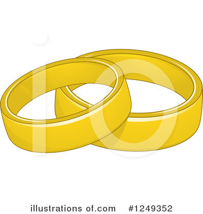 Wedding Rings Clipart #1249352 by BNP Design Studio
