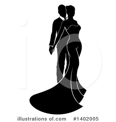 Couple Clipart #1402005 by AtStockIllustration