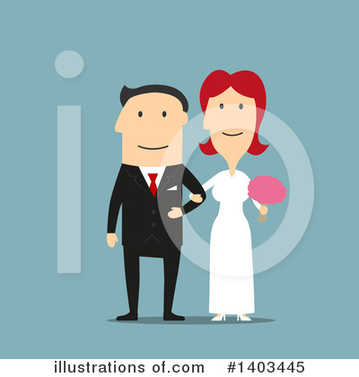 Wedding Couple Clipart #1403445 by Vector Tradition SM