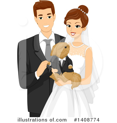 Wedding Couple Clipart #1408774 by BNP Design Studio
