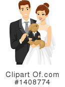 Royalty-Free (RF) Wedding Clipart Illustration #1408774