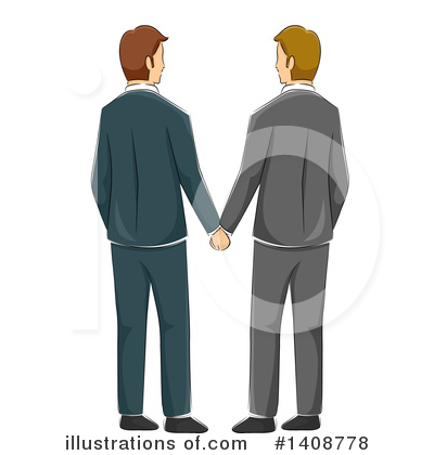 Gay Couple Clipart #1408778 by BNP Design Studio