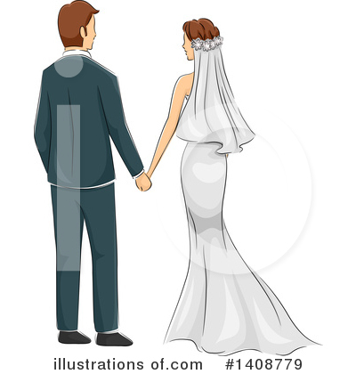 Royalty-Free (RF) Wedding Clipart Illustration by BNP Design Studio - Stock Sample #1408779