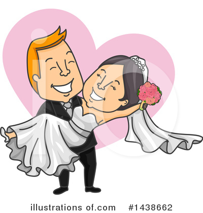 Wedding Couple Clipart #1438662 by BNP Design Studio