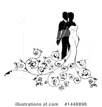 Wedding Couple Clipart #1448896 by AtStockIllustration