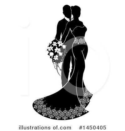 Wedding Couple Clipart #1450405 by AtStockIllustration